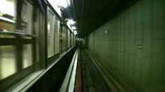 Subway at the Airport in Amsterdam, Netherlands Stock Footage