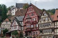 Stock Photo of half timbered houses in miltenberg