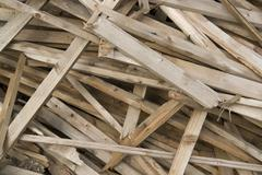 wooden chaos detail - stock photo