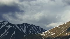 Stormclouds Rolling Over Alaskan Mountains Stock Footage