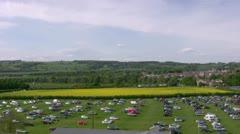 Showground car park at Corbridge Stock Footage