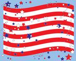 Stars and stripes border Stock Illustration