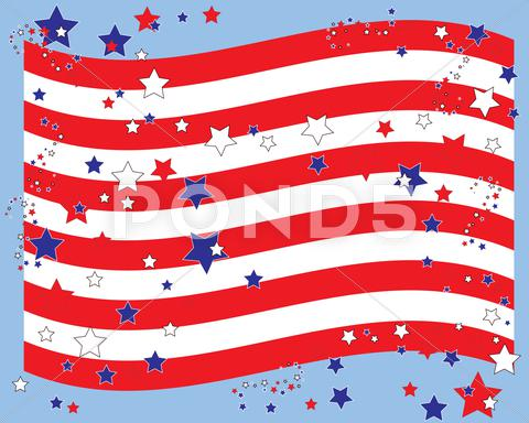 Stock Illustration of stars and stripes border