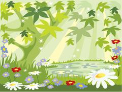 Summer leaves Stock Illustration