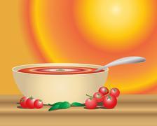 tomato soup - stock illustration