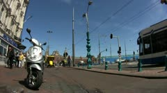 Time Lapse street view with Metro in Amsterdam, Netherlands Stock Footage