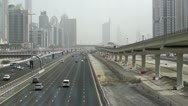 Stock Video Footage of Sheikh Zayed Road from a Metrobridge
