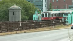 Boston Charles Station Stock Footage