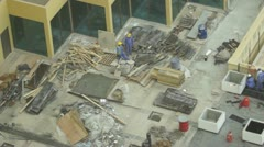 Workers in Dubai at Constructionsite Stock Footage