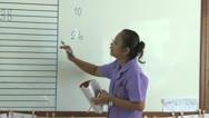 Asian Teacher Teaching In The Classroom Stock Footage