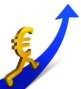 Stock Illustration of improving euro