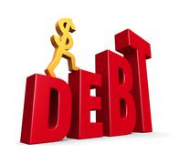 Rising debt Stock Illustration