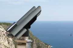 Tourist telescope. Stock Photos