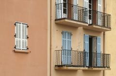 Stock Photo of ancient buildings in st. tropez