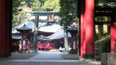 Shinto gate of Shrine of Nikko Stock Footage