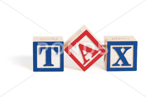 Stock Illustration of simple tax