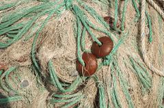 fishing nets background - stock photo