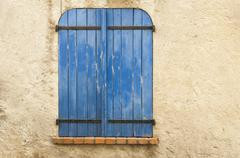 Stock Photo of old blue window