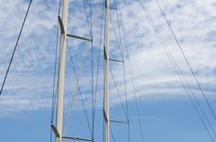 Masts of yachts Stock Photos
