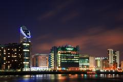 london city general skyline at night - stock photo