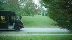 UPS truck driver - stock footage