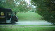 UPS truck driver Stock Footage
