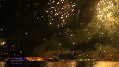 Fireworks all over the Istanbul sky Stock Footage