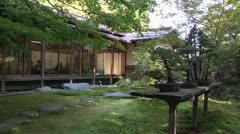 Small garden of Shinto Shrine Stock Footage