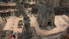 180º Pan from top of Pre Rup Stock Footage