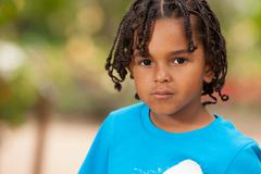 Stock Photo of portrait of a cute african american little boy