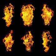 Six languages a flame Stock Photos