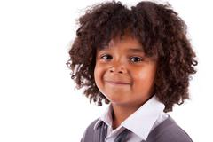 portrait of a cute african american little boy - stock photo