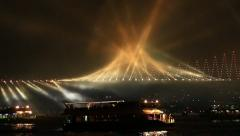 Running lights on Bosporus Bridge Stock Footage