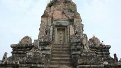 Tilt up stairs of Pre Rup Stock Footage