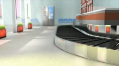 Airport baggage carousel, baggage, luggage, claim. Stock Footage