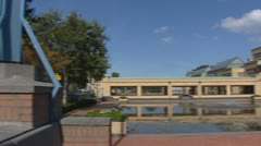 Municipal Museum in The Hague pan rl Stock Footage