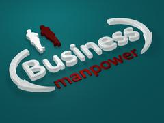 Business - Manpower - letters Stock Illustration