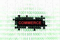 Commerce puzzle concept Stock Photos