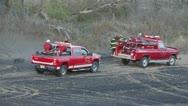 Brush Trucks Stock Footage