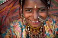 Stock Photo of portrait of a india rajasthani woman