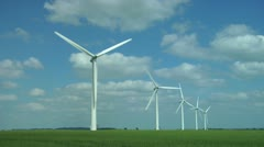 Wind Farm Turbines Stock Footage