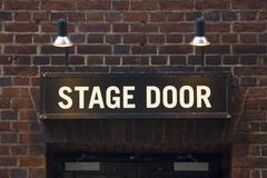 Stock Photo of Stage door sign