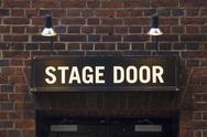 Stock Photo of Stage door sign