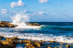 waves on the sea - stock photo