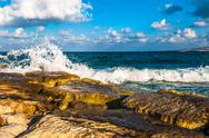 Stock Photo of waves on the sea
