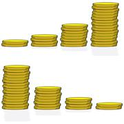Coin graph Stock Illustration