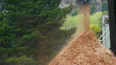 wood chip stockpile - stock footage