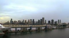Miami city cruise port Stock Footage