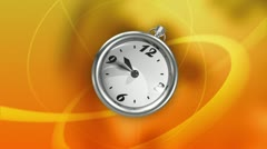 Fast ticking clock cartoon animation HD1080 - stock footage