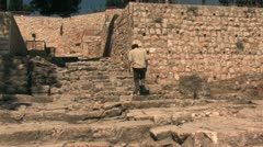 Pilgrim Ascends the Holy Steps Stock Footage
